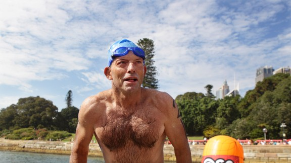 Australian opposition leader Tony Abbott, facing criticism for allegedly sexist remarks, is known to project a macho image.