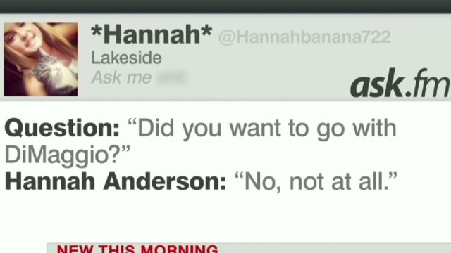 Hannah Anderson shares her pain