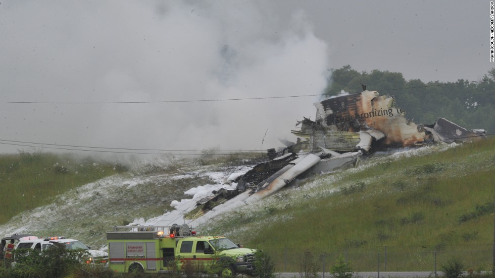 What caused the jet to crash was unclear. The weather was calm at the time, according to Mayor William Bell. The National Transportation Safety Board said it was sending a team of investigators to the site.