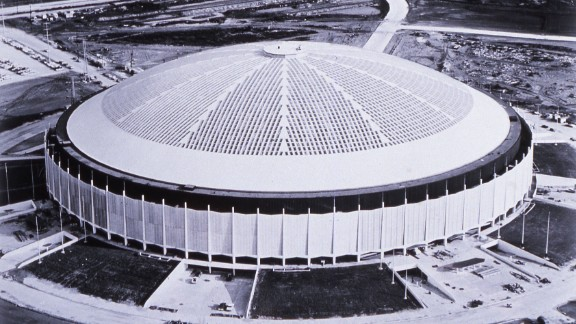 """Houston's Astrodome was nicknamed the """"eighth wonder of the world"""" when it opened 53 years ago in April 1965. It was the first of its kind: a massive air-conditioned stadium with a roof. The famous venue is about to be renovated and turned into an event center, but fans can get one last look inside during a <a href=""""https://www.chron.com/news/houston-texas/houston/article/Astrodome-Conservancy-Harris-County-announces-12766757.php"""" target=""""_blank"""" target=""""_blank"""">""""domecoming"""" event</a> on Monday, April 9. Here's a look back at some memorable events the Astrodome once hosted."""