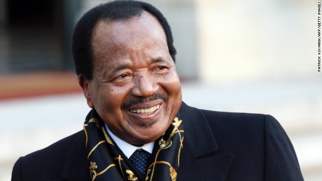 Cameroon President Paul Biya, pictured here in 2013, has condemned Wednesday's suicide bombings.