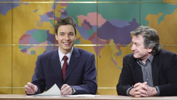 """De Niro has showed his lighter side on occasion. In 2000 he appeared on """"Saturday Night Live's"""" """"Weekend Update"""" segment with Jimmy Fallon."""