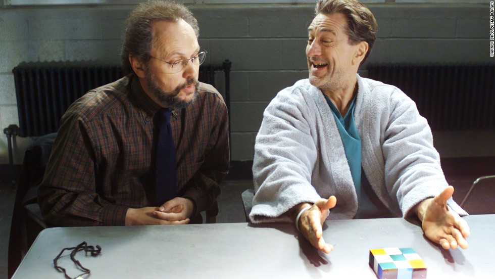 "De Niro played a depressed gangster in two comedies with Crystal, 1999's ""Analyze This"" and 2002's ""Analyze That."""