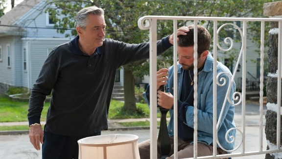 """De Niro received his latest Oscar nomination for his performance in 2012's """"Silver Linings Playbook,"""" in which he plays the obsessive-compulsive father of Bradley Cooper, right."""