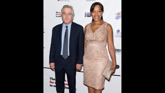 De Niro and wife Grace Hightower attend the 2013 Actors Fund's Annual Gala Honoring Robert De Niro at The New York Marriott Marquis on in April 2013.