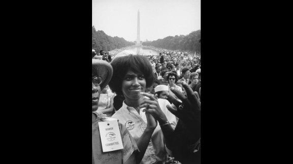 Though the most iconic shot from the March on Washington may be of King waving to the crowd, Freed moved throughout the crowd finding the faces that weren