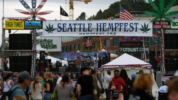 Police will attend the Seattle Hempfest, pictured in 2004, to hand out Doritos and marijuana literature Saturday.