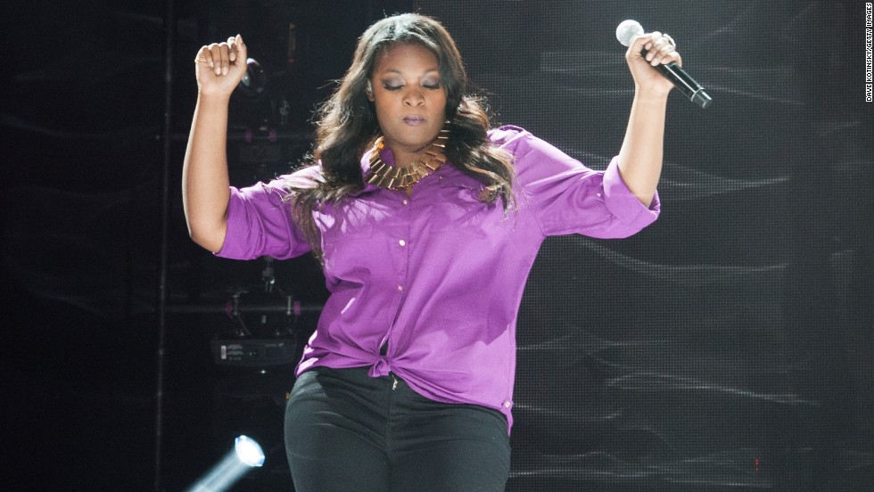 Candice Glover performs during American Idol Live! on August 14 in Newark, New Jersey.