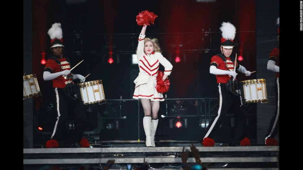 "Madonna performs during the ""MDNA"" tour at Madison Square Garden in New York on November 12, 2012."