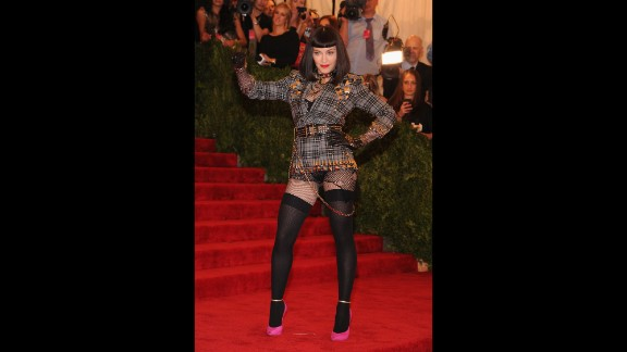 "Madonna attends the Costume Institute Gala for the ""PUNK: Chaos to Couture"" exhibition at the Metropolitan Museum of Art in New York in May 2013."