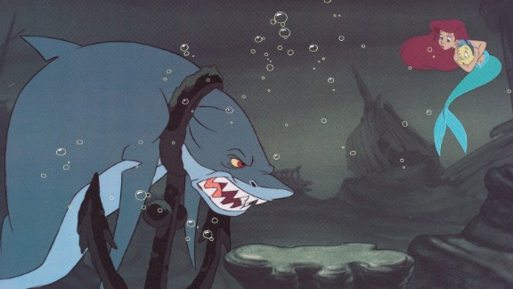 "Disney's 1989 under-the-sea adventure ""The Little Mermaid"" began with a tense run-in with a shark. Unlike the chilling but affable characters Disney has produced lately, this shark was straight out of ""Jaws"" with its brutish strength and snapping teeth."