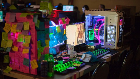 Many of the modded computers were decked out in various colors and neon lights and showed off the extensive cooling systems that helped keep the components from overheating.