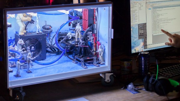 """Few fantasy places are cooler than the ice planet of Hoth, from """"The Empire Strikes Back."""" That's how this gamer decorated his rig."""