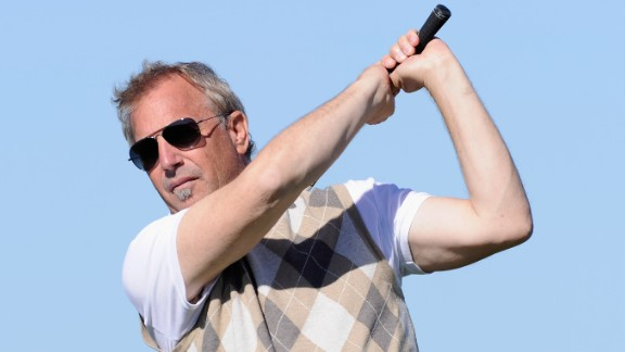 1996 was a big year for golf movies, with Kevin Costner -- here playing at the 2011 AT&T Pebble Beach National Pro-Am -- starring in the hit Tin Cup alongside Rene Russo.