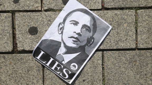 A poster of President Obama from a protest by activists who oppose the data spying programs of the NSA. The Washington Post reported that the NSA had broken its own permissive rules on surveillance thousands of times each year since 2008. Privacy advocates are demanding that the U.S. government not trample privacy for the sake of security.