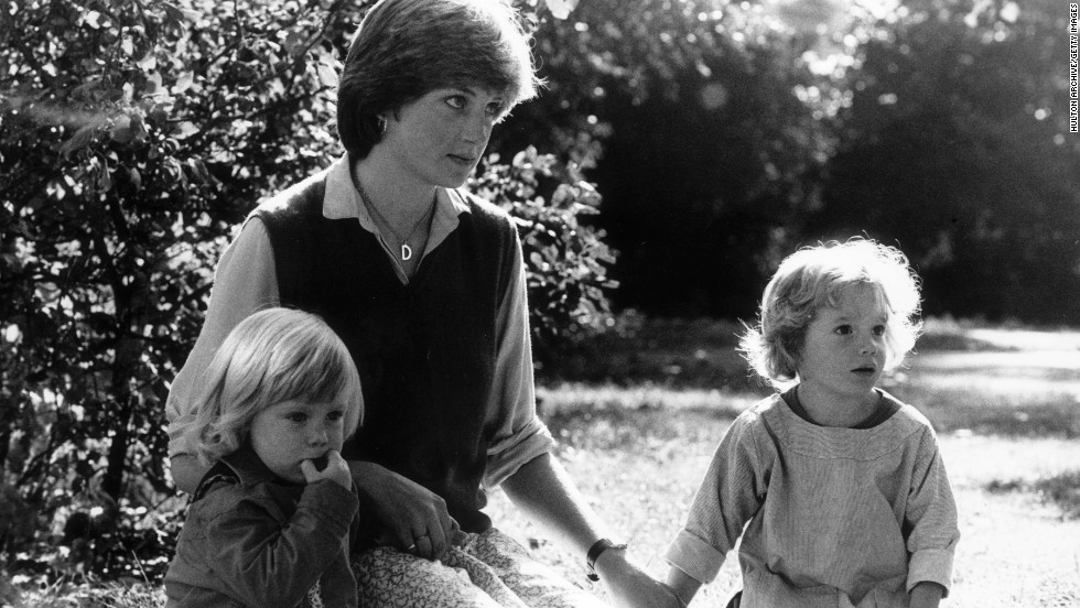 After finishing school, Diana worked various jobs, including cook, nanny and kindergarten teacher. Here she is in 1980 with two children she looked after as a nanny.