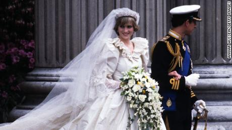 Diana, Princess of Wales, and Prince Charles leave St. Paul's Cathedral in London on their wedding day, July 29, 1981.