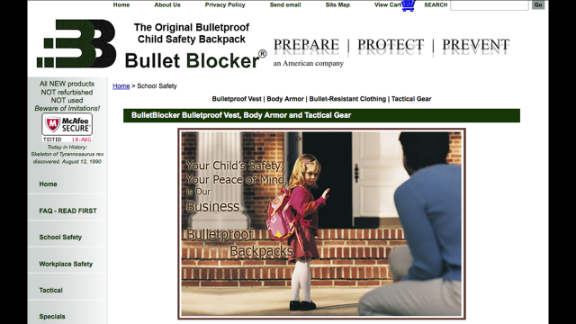 A few companies offer bulletproof backpacks or backpack inserts for children, including Bullet Blocker and Amendment II. After the December 2012 mass shooting at Sandy Hook Elementary in Newtown, Connecticut, both companies reported a temporary jump in sales. Rich Brand, COO of Amendment II, told CNN sales spiked 500% the week after the shooting.