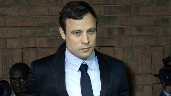 South African Olympic sprinter Oscar Pistorius arrives at the Magistrate Court in Pretoria on August 19, 2013.