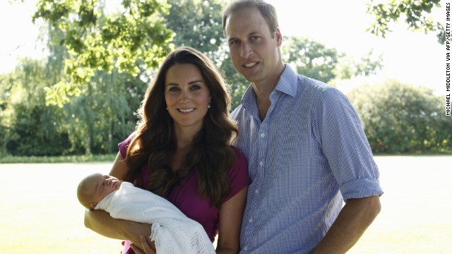HFR until 7:01 -- Prince William, Duke of Cambridge, and Catherine, Duchess of Cambridge, with their newborn boy, Prince George of Cambridge, in early August at the Middleton family home in Bucklebury, Berkshire. The couple released two family photographs with their son, taken by Michael Middleton, Catherine's father.