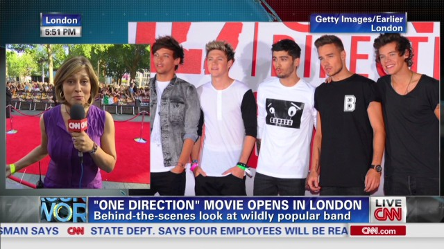 One Direction movie premieres in London