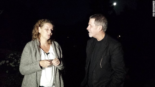 Ewa Espling and Michael Boatwright, who has dissociative amnesia, reunited on Tuesday in Sweden.