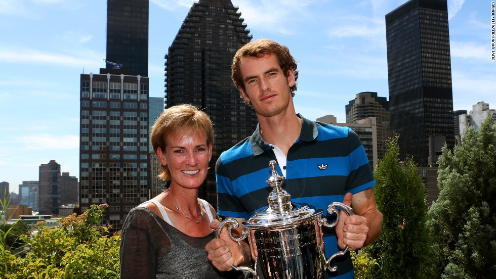 The first of Andy's two grand slam titles came at the U.S. Open in 2012 when he beat current world No. 1 Novak Djokovic in the final. Having lost his first four major finals, it marked the first grand slam win by a British player since 1936. Mum Judy, of course, was there to celebrate with him.