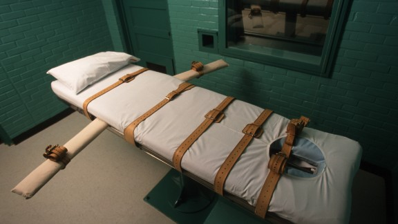 Criminals are executed with lethal injections in this death chamber in Huntsville, Texas.