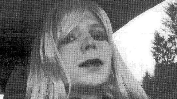 U.S. Army Private First Class Bradley Manning, the soldier convicted of giving classified state documents to WikiLeaks, is pictured dressed as a woman in this 2010 photograph obtained from court documents on August 14.