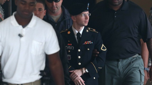 """In a statement read by his attorney at his sentencing, Manning said he acted """"out of love for my country and a sense of duty."""" That statement was part of Manning"""