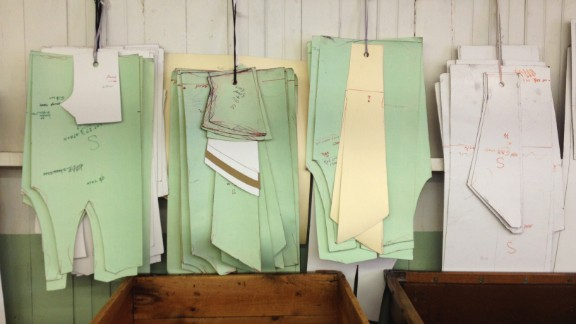 After the fabric returns from the processing plant, it goes to the cutting room to be cut into various patterns.