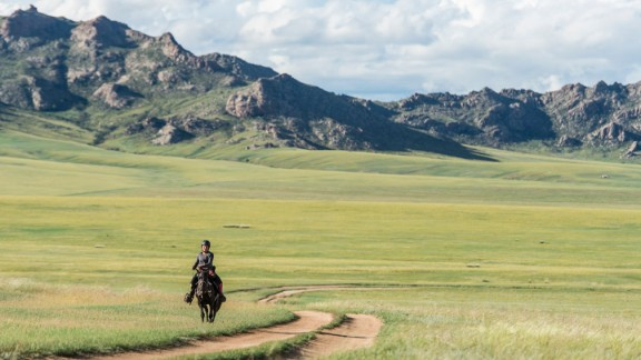 The Mongol Derby, a 1,000 kilometer scramble through the vast expanse of the Mongolian steppe.