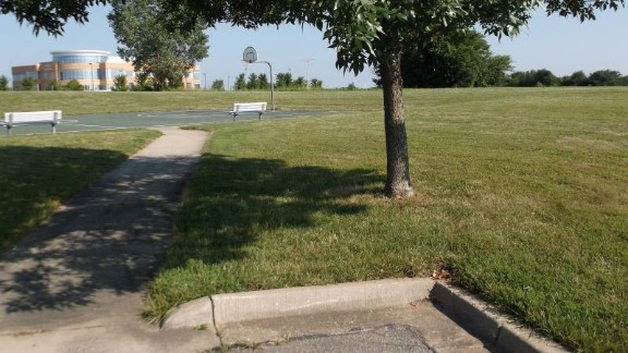 Manley is consistently matter-of-fact about the details of his suicide plan. But it's not  hard to feel chills at this photo he snapped of the exact spot -- under the tree -- where he would take his own life.