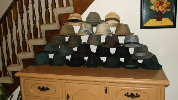 """""""At first, I just owned a couple of Fedoras, but then I bought a couple more. And, then I guess I got infected by the female shopping gene because, despite being extremely cheap, I got up to about a dozen hats,"""" he wrote on the site. """"I finally stopped at 25 when I realized I wasn't going to be around in another 14 months. Besides, I had just about covered all the colors."""""""
