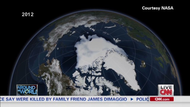 NASA Charts shrinking Arctic ice