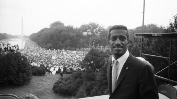 Sammy Davis Jr. was among the celebrities at the March on Washington. Bond recalls serving him a Coca-Cola.