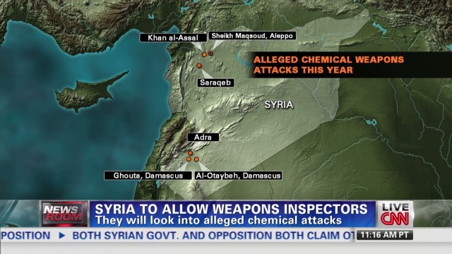 Syria to allow chemical weapon inspector