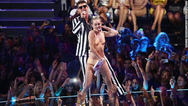 Watch Miley Cyrus' shocking VMA act