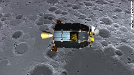 Scientists use data from LADEE, a robotic craft that has been studying the month from in orbit until 2014