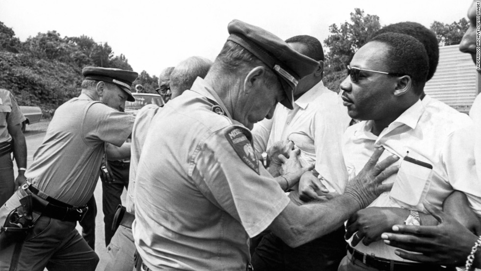 martin luther king jr fast facts cnn mississippi patrolmen shove king during the 220 mile quot against fear quot from photos the legacy of martin luther king jr