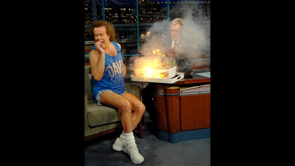 Richard Simmons and David Letterman have a wonderfully antagonistic friendship, and out of the many times the fitness king has appeared on the program, it