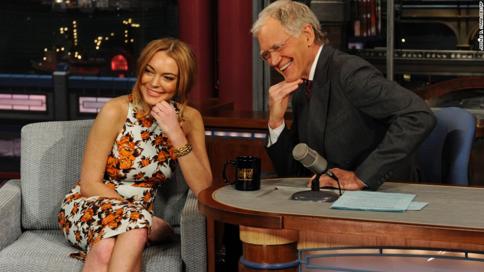 "Prior to her court-mandated stint in rehab, Lindsay Lohan gave an emotional but also surprisingly endearing and transparent interview. Letterman, of course, didn't take the easy route and asked pointed, frank questions. Although he led her down a road that ended in tears, the host commended Lohan when it was done: ""We never thought we'd see you again, honestly, because of the jokes and stuff,"" he told her. ""But you have enough spine, enough sense of yourself, enough poise to come out here and talk to me."""