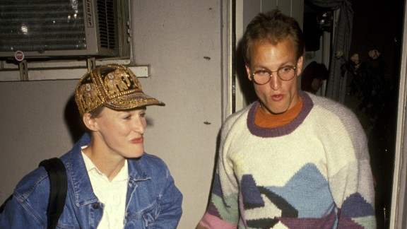 "Glenn Close and Woody Harrelson are said to have become romantic partners for a spell in 1991, when they performed in the play ""Brooklyn Laundry"" together."