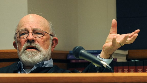 This undated photo shows District Judge G. Todd Baugh presiding at a hearing in Great Falls, Montana.