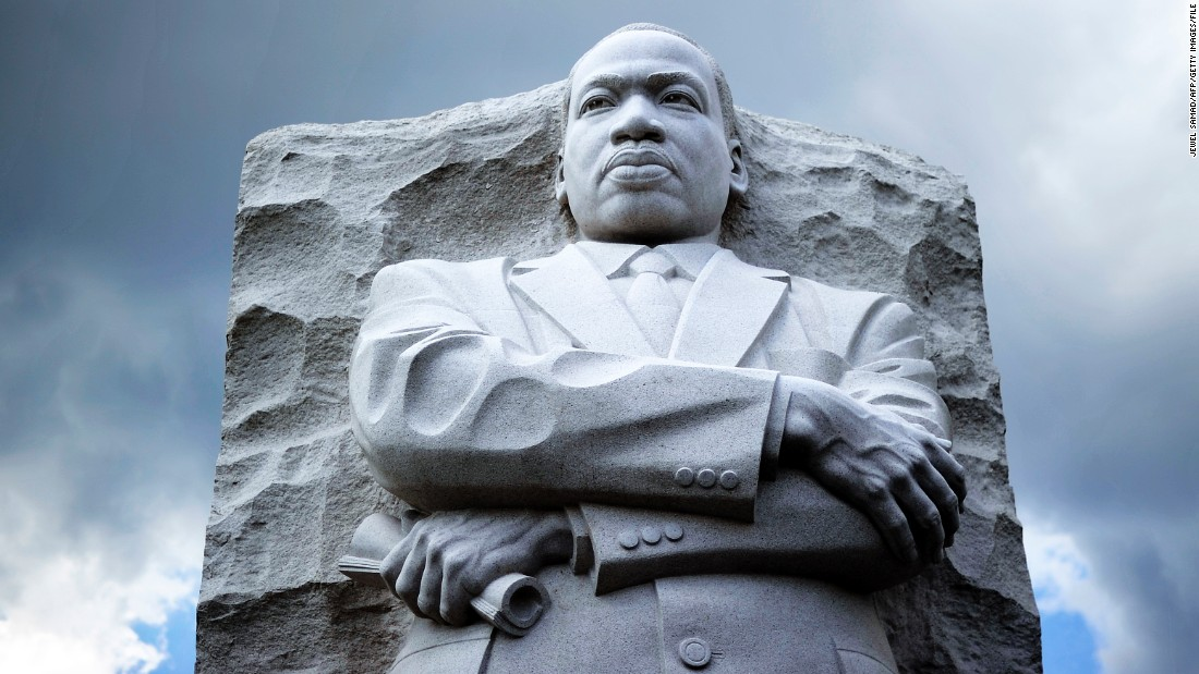 The Martin Luther King Jr. Memorial joined the Lincoln and Jefferson memorials on the National Mall in Washington.
