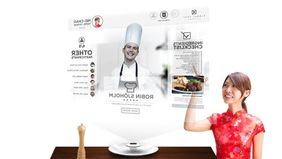 With Global Chef food lovers can learn tips from chefs all over the world or schedule cooking sessions with distant loved ones. Its holographic technology means you can share cooking and eating experiences even when you're far apart.