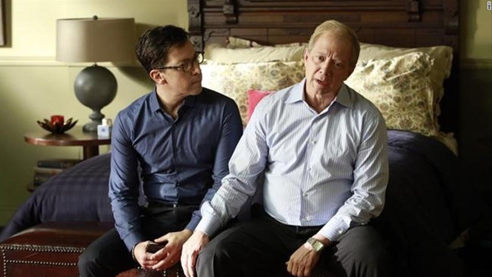 'Scandal': Dan Bucatinsky and Jeff Perry as married parents James Novak and Cyrus Beene.