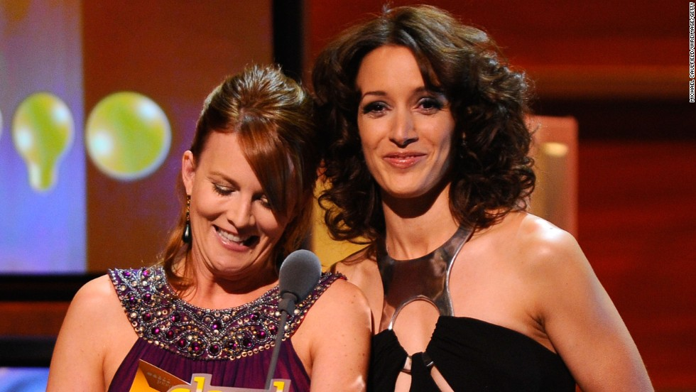 'The L Word':  Actresses Laurel Holloman and Jennifer Beals played Tina Kennard and Bette Porter, an on-again, off-again couple who co-parent.