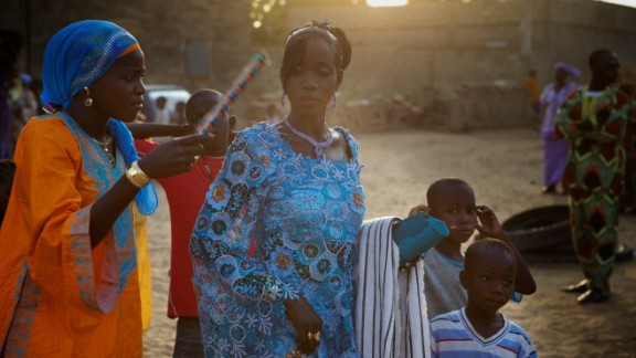 """iReporter <a href=""""http://ireport.cnn.com/docs/DOC-724529"""" target=""""_blank"""">Mikael Ruttkay Hylin</a> shared this striking photos from his trip to Mbour, Senegal, where he witnessed a traditional Muslim Senegalese wedding."""