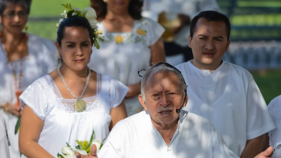 Luz Carmen Gonzalez marries Jesus Chacon in the last Maya wedding before the end of the Maya Long Count Calendar -- Baktun 13 -- and the beginning of a new era on December 17, 2012, in Merida, Mexico.